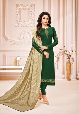 Designer Pure Cotton Jam Silk Semi-Stitched Salwar Suit