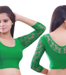 Green Lace crochet stretchable blouse and crop top