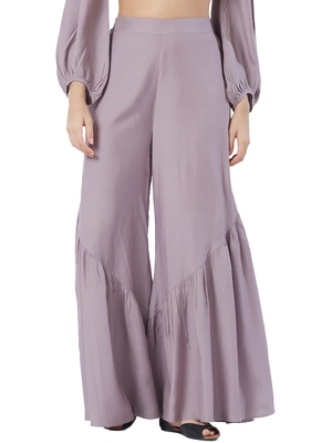 Lilac Cross Sharara Pants
