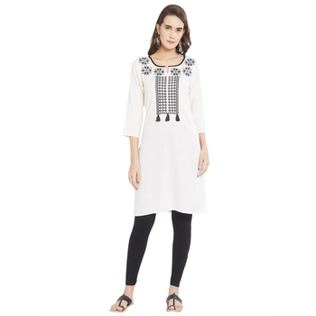 Multicolor printed cotton kurtas-and-kurtis