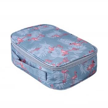 Shree Shyam Product Grey Travel Toiletry Cosmetic Organizer Portable Storage Bag 1 Pcs Set