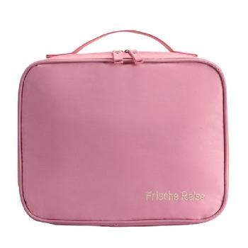 Shree Shyam Product Peach Travel Makeup Bags Cosmetic Case Organizer Portable Storage Bag 1 Pcs Set