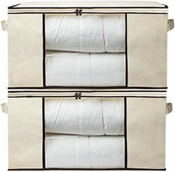 Blankets Clothes Storage, Organizer Jumbo Zippered Storage Bags Set Of 2 Pcs