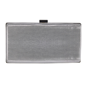Shree Shyam Product Silver Beautiful Clutch for Casual, Party & Wedding 1 Pc