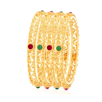 Multicolor diamond bangles-and-bracelets