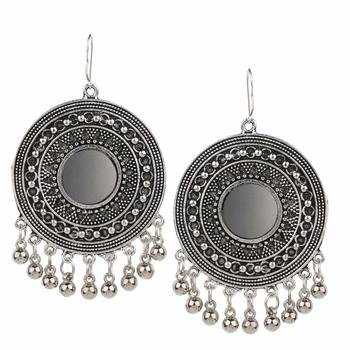 Silver Chandbali Dangler Earring For Women
