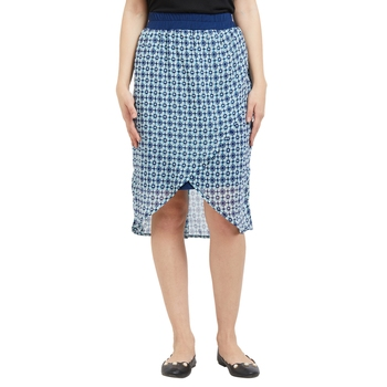 Navy Printed Short Skirt