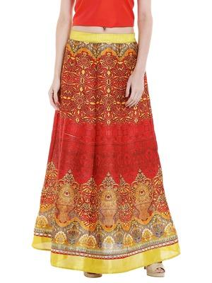 Printed Long Festive Skirt