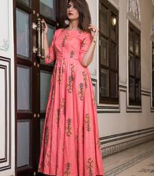 All Season Designer Pink Pure Maslin Gown