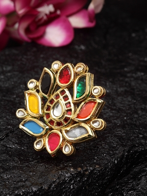 Navrattan Flower Ring