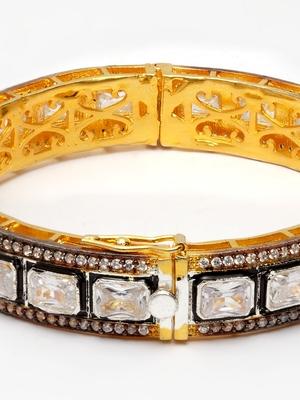 Kundan Blue Sapphire Bracelet