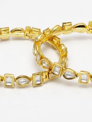Gold Plated kundan bangle