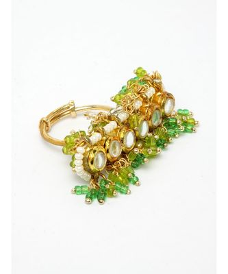 Minty Geen chand double ring