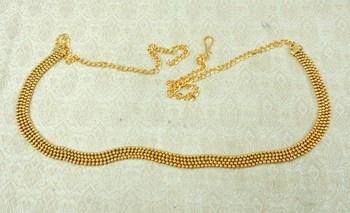 Lalso Designer Brass Chain Golden Kamarband Waist Belt Jewelry - LBCKB02_PLN