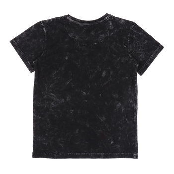Black printed cotton boys-tshirts