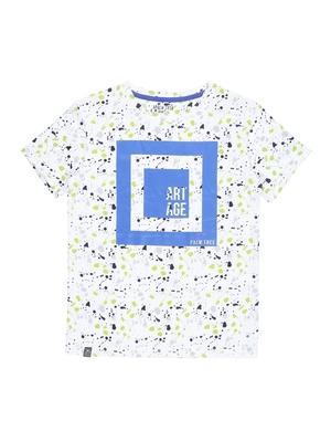 Green printed cotton boys-tshirts