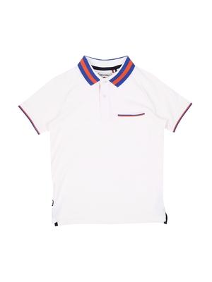 White Printed Cotton Boys Tshirts
