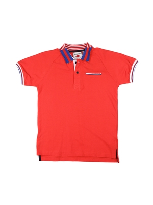 Red printed cotton boys-tshirts