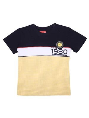 Yellow printed cotton boys-tshirts