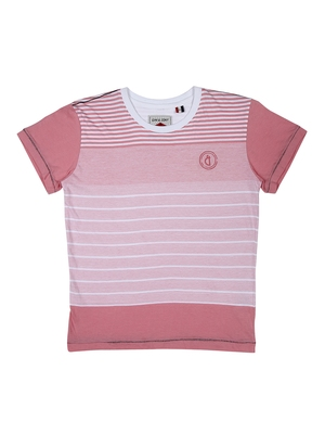 Pink printed cotton boys-tshirts