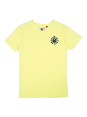 Yellow Printed Cotton Boys Tshirts