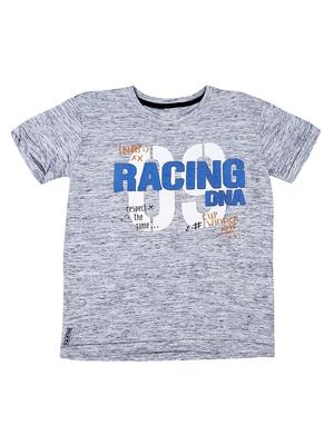 Grey printed cotton boys-tshirts