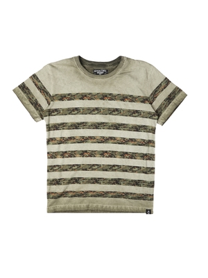 Beige printed cotton boys-tshirts