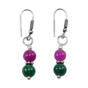 Multicolor jade earrings