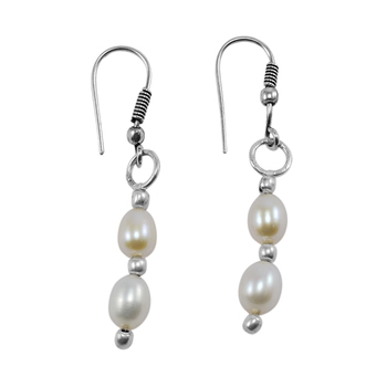 Multicolor pearl earrings