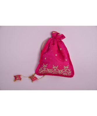 pink paisley potli