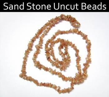 Sand stone Uncut Beads