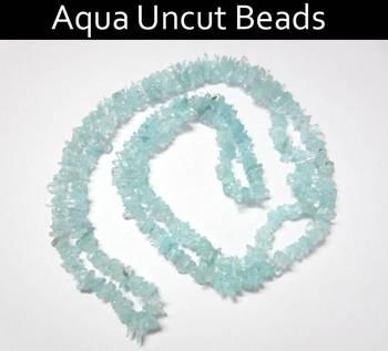 Aqua Marine Uncut Beads
