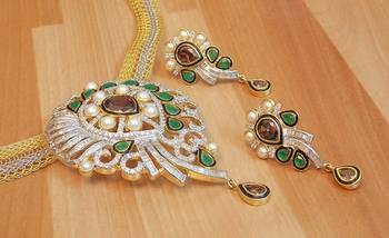 Beautiful And Elegant cz Pendent Set...