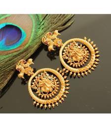 Beautiful Matte Finish Radhe Krishna Designer Earrings