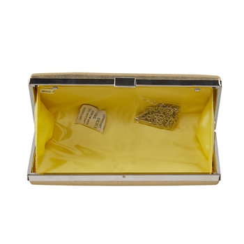 Shree Shyam Product Gold Handicraft Beautiful Clutch For Casual, Party & Wedding Set Of 1 Pc