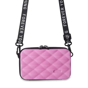 Shree Shyam Product Pink Designer Mini Crossbody Storage Box Cosmetic Handbag for Women 1 Pc Set