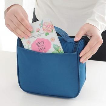 Shree Shyam Product Tuequoise Multi Functional Toiletry Bag Cosmetic Organizer Bag 1 Pcs Set