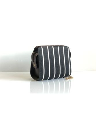 Black Stripe Sling Bag