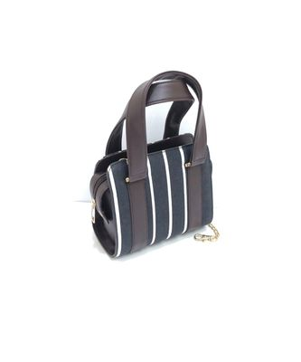 Black with Stripe Sling Bag with Handle