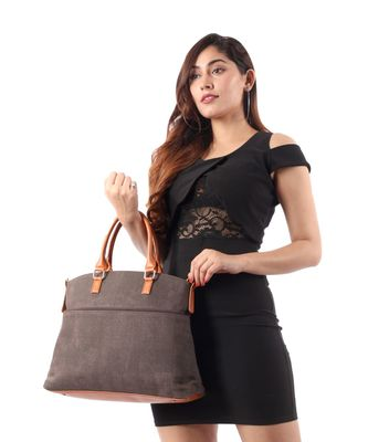 Brown Canvas  Tote