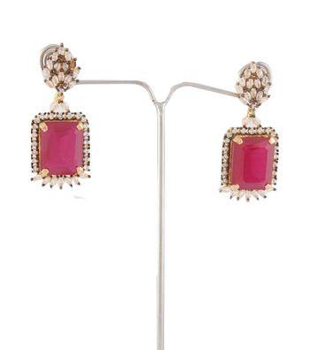 Sihiri Sensuous Pink Gold Earrings