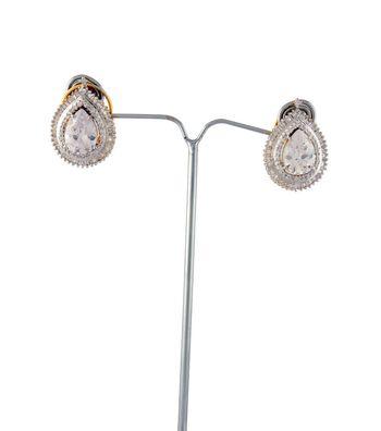 Sihiri Dazzling Silver CZ Earrings