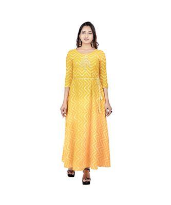 Yellow Printed Kurta