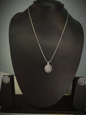 Charming German Silver Necklace Set
