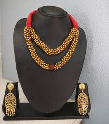 Red Tassle Rudraksh Banjara Necklace Set
