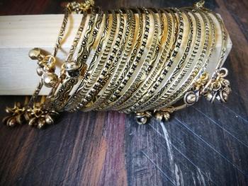 antique gold german silver Bangle set
