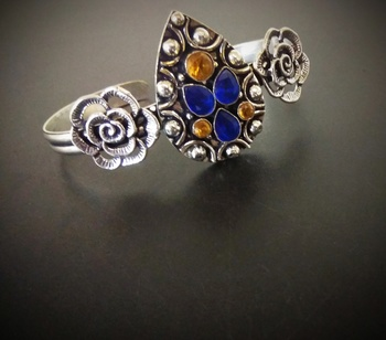 Germans Ilver Stone Bracelet Design