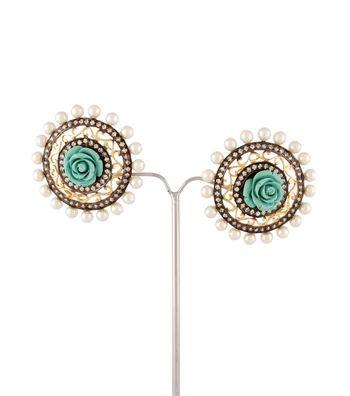 Sihiri Floral Disc Earrings