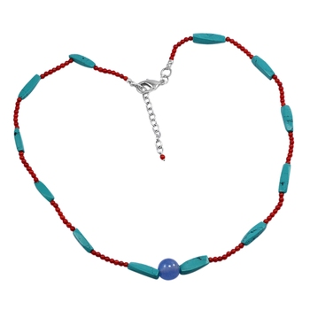 Multicolor chalcedony necklaces