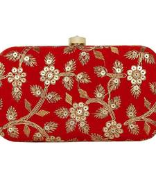 Red Velvet Women Party Clutch (Red)